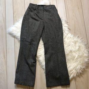 Ann Taylor Curvy Petite Wool Blend Trousers Pants